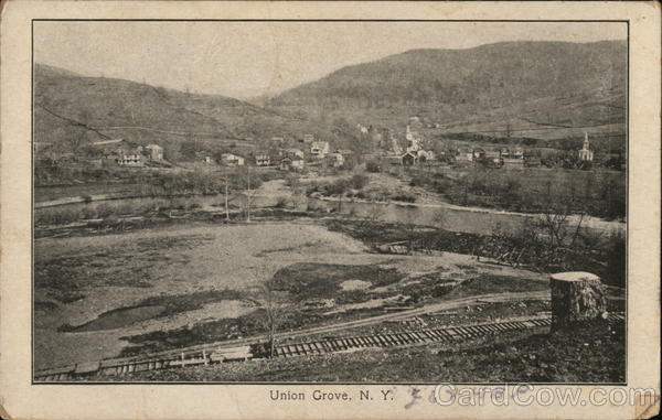 Houses and Train Tracks, Union Grove Andes New York