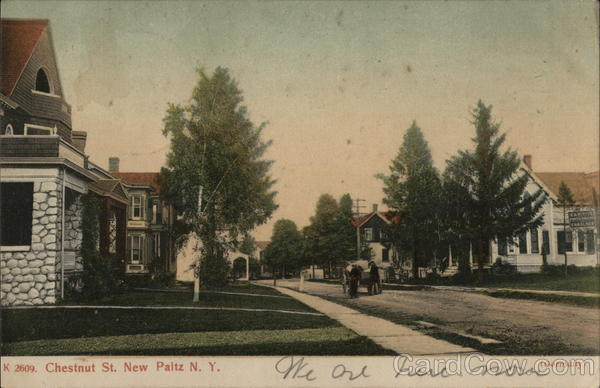 Residential View of Chestnut Street New Paltz New York