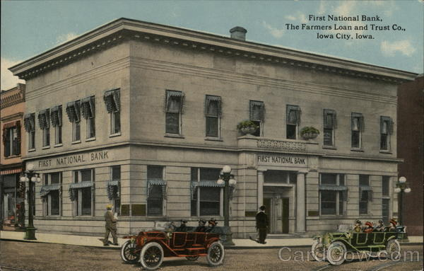 First National Bank, The Farmers Loan and Trust Co. Iowa City