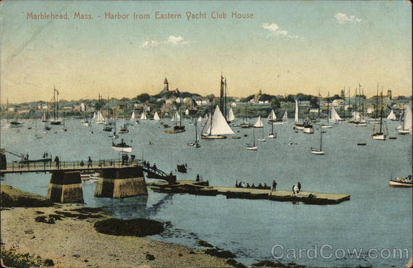 Harbor from Eastern Yacht Club House Marblehead Massachusetts