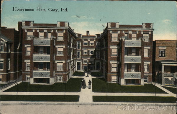 Street View of Honeymoon Flats Gary Indiana