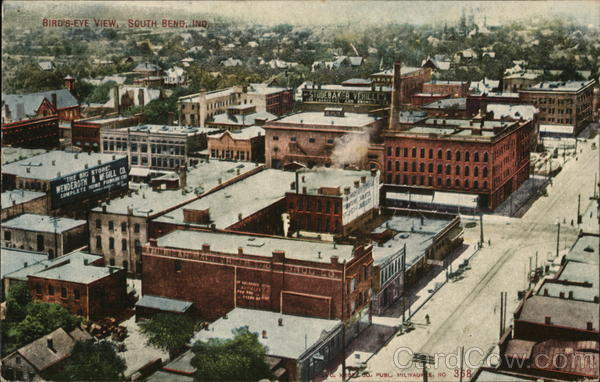 Bird's-Eye View South Bend Indiana