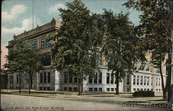 Street View of High School Building South Bend Indiana