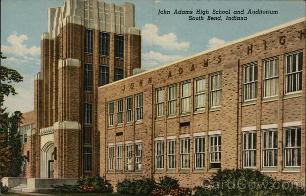John Adams High School and Auditorium South Bend Indiana