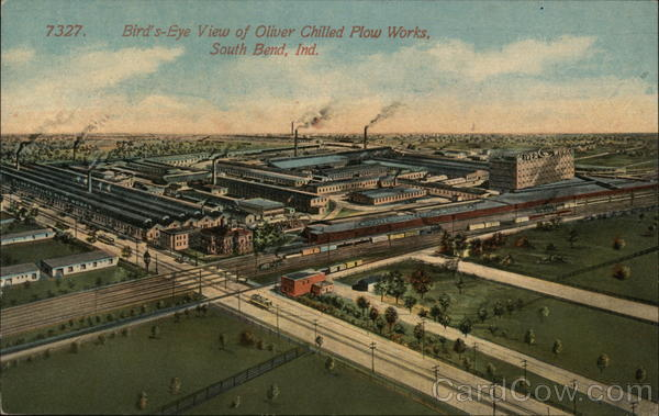 Bird's Eye View of Oliver Chilled Plow Works South Bend Indiana