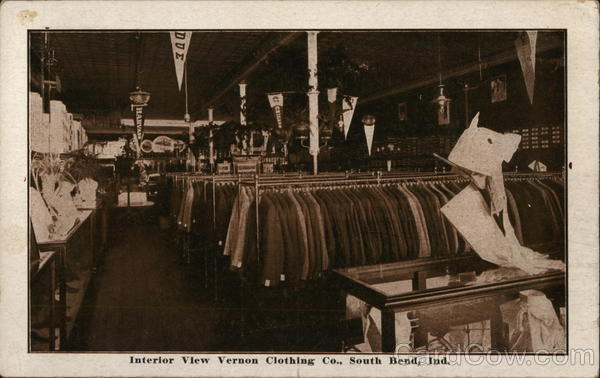 Interior View Vernon Clothing Co. South Bend Indiana
