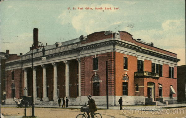 Street View of US Post Office South Bend Indiana
