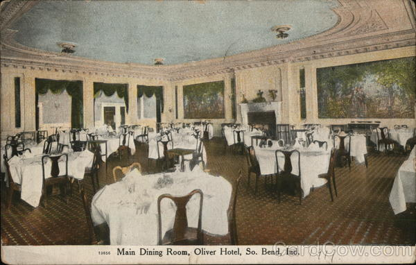 Main Dining Room, Oliver Hotel South Bend Indiana