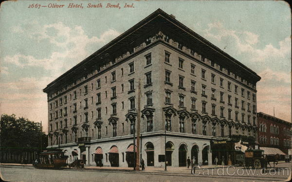 Street View of the Oliver Hotel South Bend Indiana