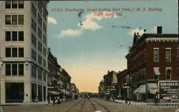 Washington Street looking East from JMS Building South Bend Indiana