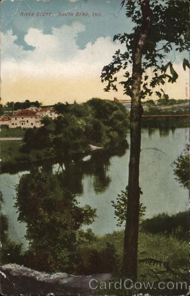 River Scene South Bend Indiana