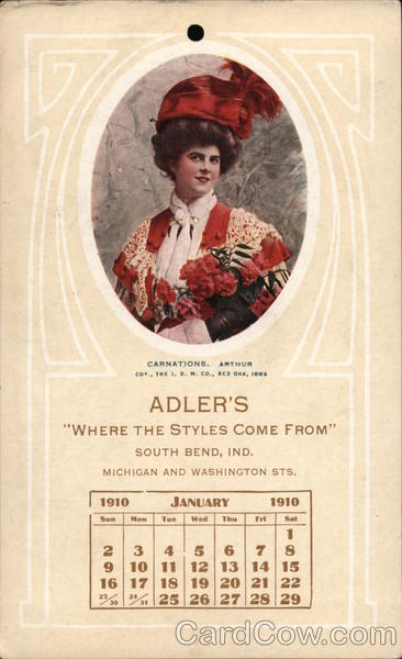 Adler's Where Style Comes From, South Bend, indiana, ichigan and Washington Sts.
