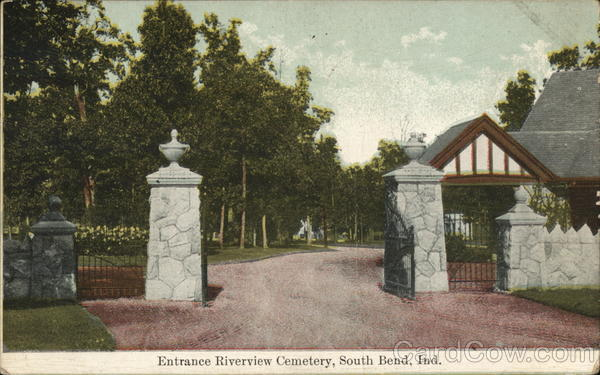 Riverview Cemetery - Entrance South Bend Indiana