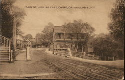 Main Street, Looking East - Catskill Mountains Postcard