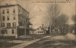 Coe's Hotel and Lower Main Street