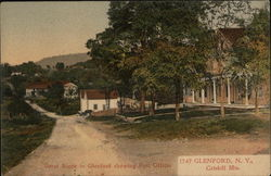 Street Scene showing Post Office - Catskill Mountains