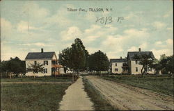 Houses on Tillson Avenue Postcard