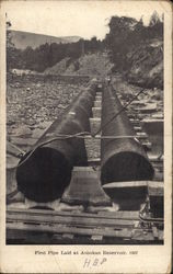 First Pipe Laid at Ashokan Resevoir, 1907