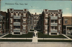 Street View of Honeymoon Flats Postcard
