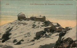 Lick Observatory, Mt Hamilton in Winter
