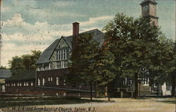 YMCA and First Baptist Church Postcard
