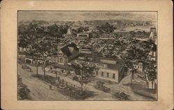 View of Town Showing Richfield Park Hotel Postcard