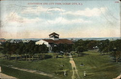 Auditorium and City Park Postcard