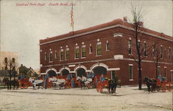 Central Fire Department Postcard