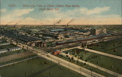 Bird's Eye View of Oliver Chilled Plow Works Postcard