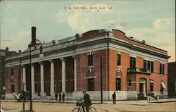 Street View of US Post Office Postcard