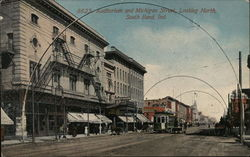 Auditorium and Main Street, Looking North Postcard