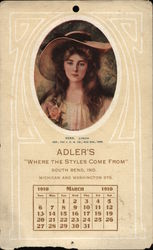 Adlers Where Style Comes From South Bend, Ind. Michigan and Washington Sts.