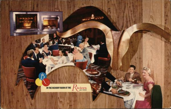 The Magnificent Riviera Hotel's World Famous Hickory Room Las Vegas Nevada
