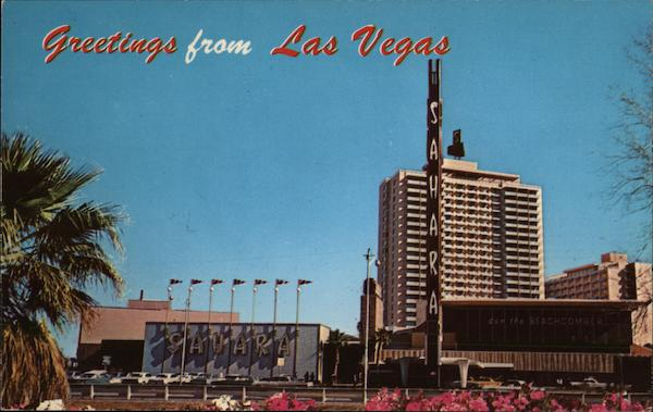 Greetings From Las Vegas, Hotel Sahara Nevada