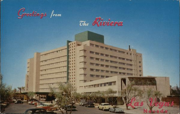 Riviera hotel las vegas nv postcard for Riviera resort las vegas