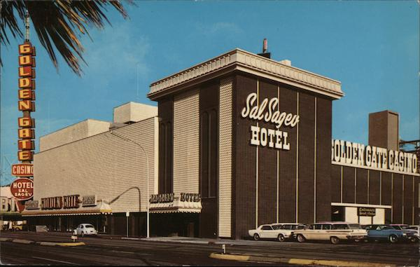 The Golden Gate Casino and Sal Sagev Hotel on Fremont & Main Streets at Casino Center Las Vegas Nevada