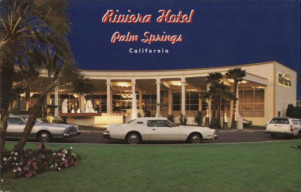 The hotel riviera palm springs ca postcard for The riviera palm springs ca