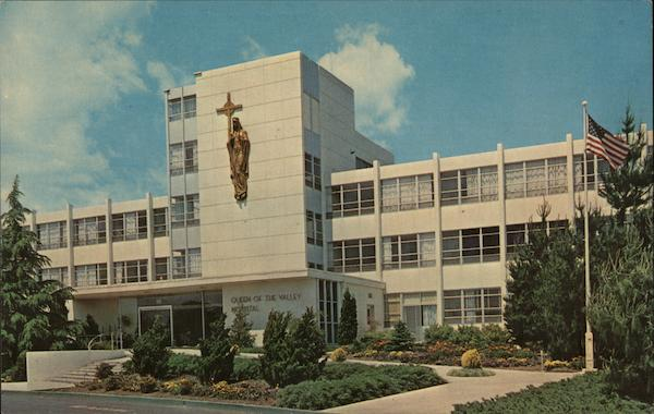 Queen Of The Valley Hospital Napa Ca Postcard