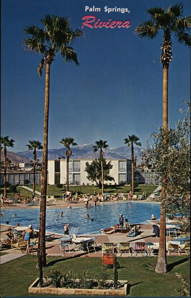 Riviera hotel palm springs ca postcard for The riviera palm springs ca