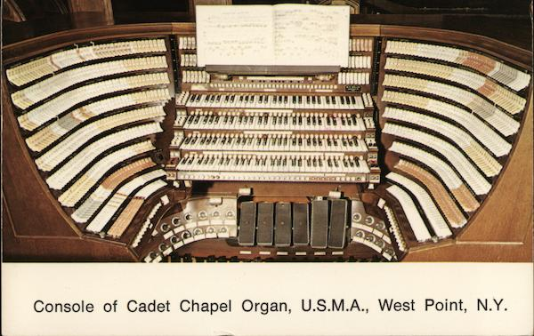 Console of Cadet Chapel Organ United States Military Academy West Point New York