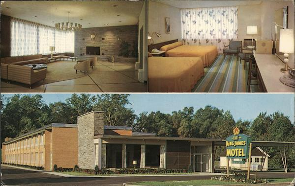 the king james motel rochester ny postcard. Black Bedroom Furniture Sets. Home Design Ideas