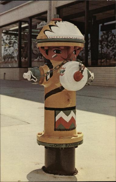 American Bicentennial Painted Hydrant South Bend Indiana