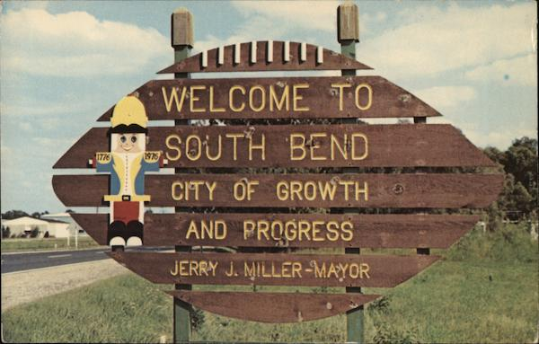 City Welcom Sign South Bend Indiana