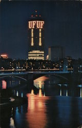 The Prudential Center by Night Postcard