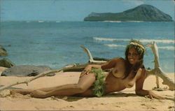 "Nude Hawaiian Girl ""Come Find Your Special Island"""