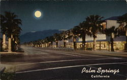 Picturesque Palm Canyon Drive at Night