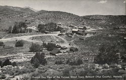 Present Day View of the Famous Ghost Town in Nye County