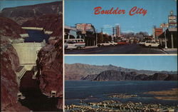 Boulder City, Hoover Dam and Lake Mead Postcard