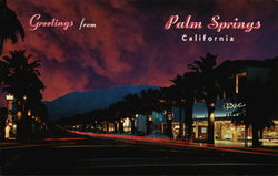 Palm Canyon Drive at Night