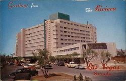 Greetings from The Riviera Hotel Postcard